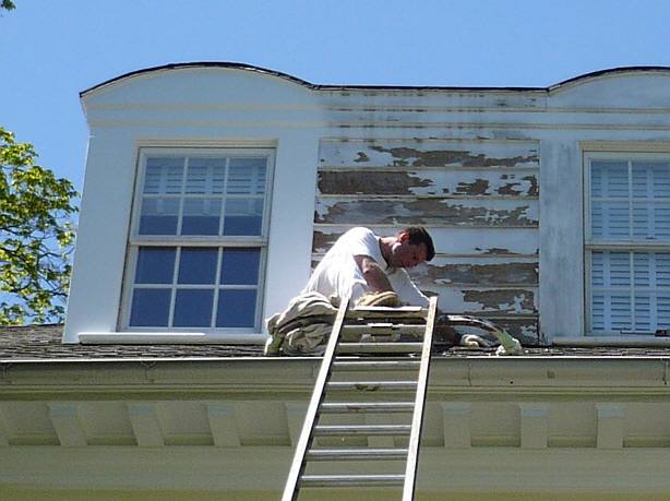 Scevoli painting com inc exterior residential painting scraping priming and painting wood - Exterior paint peeling concept ...