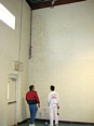 painting a school gymnasium