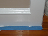 painting old base moulding