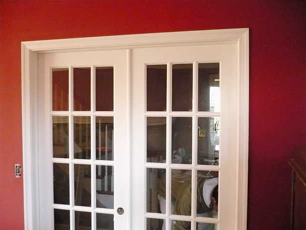 Scevoli painting interior trim and walls painted for Residential french doors